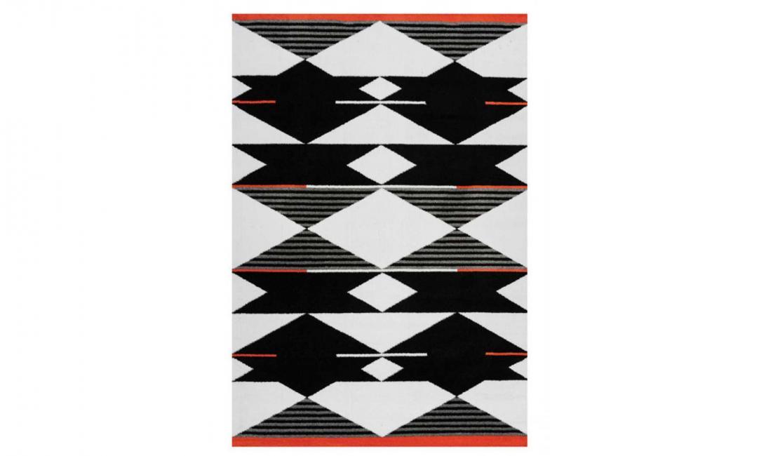 КОВЕР BROADWAY 500 1600x2300 BLACK/WHITE/RED